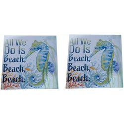 Fancy That Seaside Escape 2-pc. Seahorse Box Sign Set
