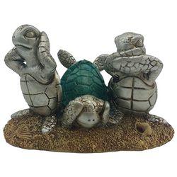 Fancy That Ocean Wave Sea No Evil Turtle Figurine