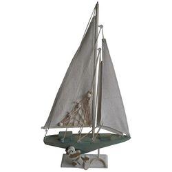 Fancy That Seafoam Shores Medium Wood Sailboat Figurine