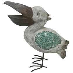 Fancy That Seafoam Shores Mosaic Pelican Figurine