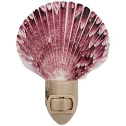 HS Seashells Purple Scallop Shell Nightlight