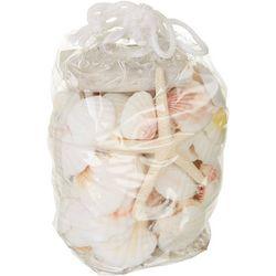 HS Seashells White Starfish Shells Bag