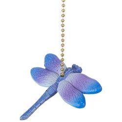 Clementine Design Purple Dragonfly Fan Pull