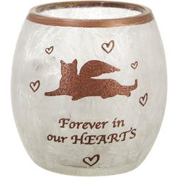 Stony Creek Forever In Our Hearts Cat Lighted Vase