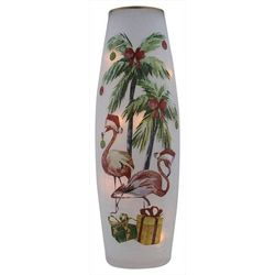 Stony Creek Christmas Flamingo Tall Lighted Vase