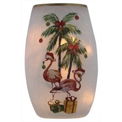 Stony Creek Christmas Flamingo Lighted Vase