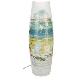 Stony Creek Coastal Beach Tall Lighted Vase