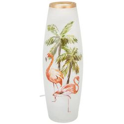 Stony Creek Flamingo Tall Lighted Vase