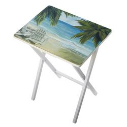 Palm Island Home Beach Bliss Tray Table