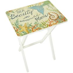 Coastal Home Mermaid Tail Tray Table