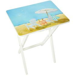 Coastal Home Beach Chair Tray Table