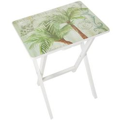 Coastal Home Palm Tree Tray Table