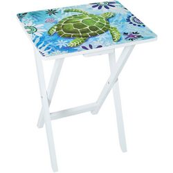 Coastal Home Welcome Turtle Tray Table