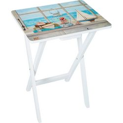 Coastal Home Scenic Window Tray Table