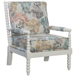 Linon Tropics Mineral Print Spindle Chair