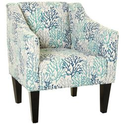 Chapter 3 Sarasota Denim Print Jennifer Arm Chair