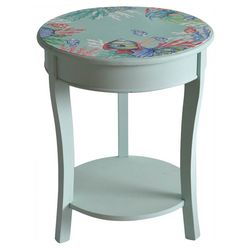 Coastal Home Fish Accent Table