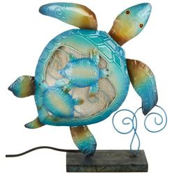 Coastal Home Turtle Capiz Lamp
