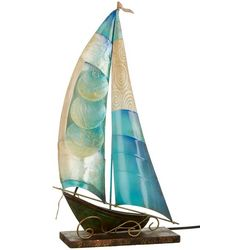 Coastal Home Sailboat Capiz Lamp