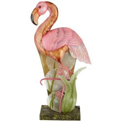 Coastal Home Flamingo Capiz Lamp