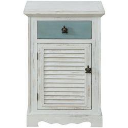 Coast To Coast Marina White One Door One Drawer Cabinet