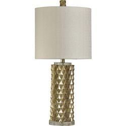 Stylecraft Gold Diamond Texture Table Lamp
