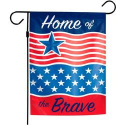 Wincraft Home Of The Brave Garden Flag