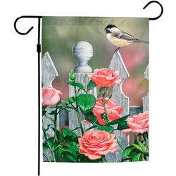 Wincraft Bird & Roses Garden Flag