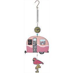 Sunset Vista Designs Flamingo Camper Bouncy Wind Chime