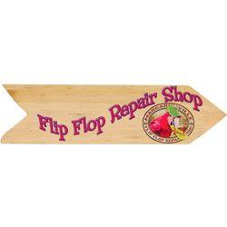 Margaritaville Outdoor Flip Flop Repair Shop Wall Sign