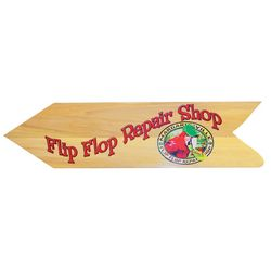 Margaritaville Flip Flop Repair Shop Wall Sign