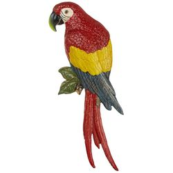 San Pacific Red Parrot Wall Plaque