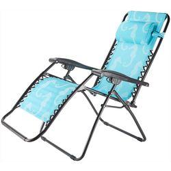 Caravan Seahorse Print Zero Gravity Chair