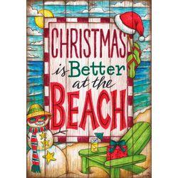 Custom Decor Christmas Is Better At The Beach Garden Flag