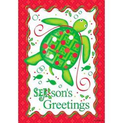 Custom Decor Christmas Turtle Garden Flag
