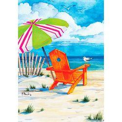 Custom Decor Beach Chair Garden Flag