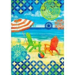 Custom Decor Beach Adirondack Chair Garden Flag