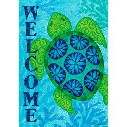Custom Decor Welcome Sea Turtle Garden Flag