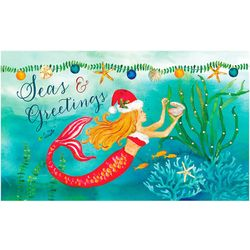 Custom Decor Seas & Greeting Mermaid Garden Flag