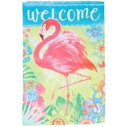 Custom Decor Flamingo Floral Garden Flag