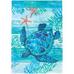 Custom Decor Sea Turtle Scene Garden Flag