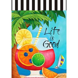 Custom Decor Life Is Good Mini Garden Flag