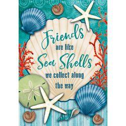 Custom Decor Friends Are Like Sea Shells Garden Flag
