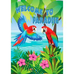 Custom Decor Welcome to Paradise Garden Flag