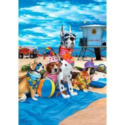 Custom Decor Dogs on Beach Garden Flag