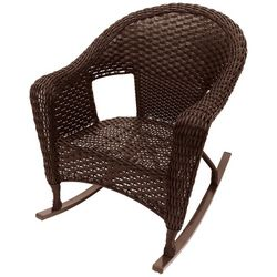 Coastal Home Wicker Club Rocking Chair