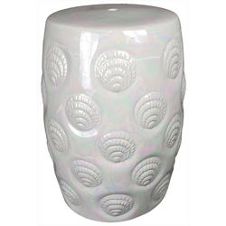 Galt International Sea Shell Garden Stool