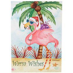 Brighten the Season Warm Wishes Flamingo Greeting Cards
