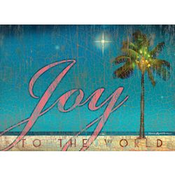 Brighten the Season Joy To The World Greeting