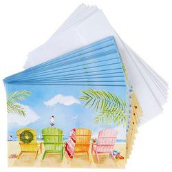 Brighten The Season Colorful Adirondack Greeting Cards